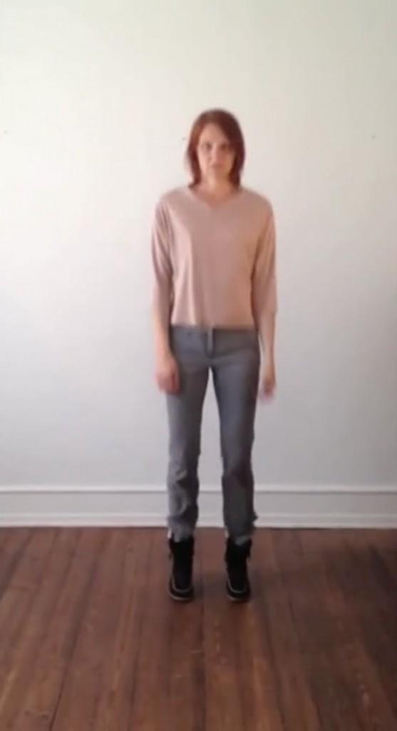 a portrait, video projection, 2012