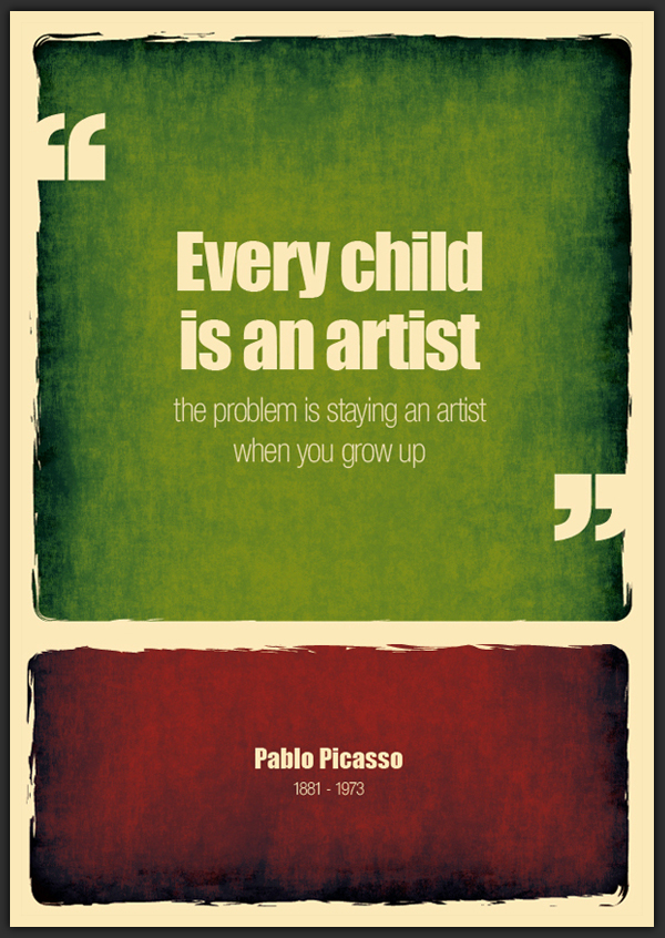 pablo picasso_every child is an artist